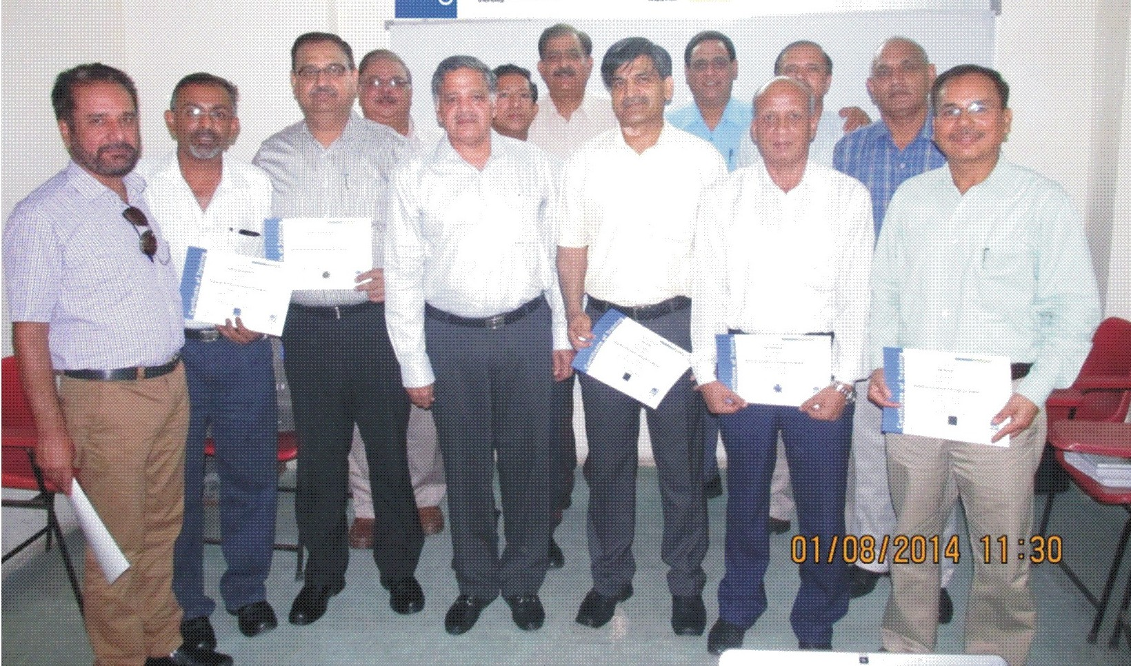 Officers with their ASQ certificates (L-R: Col HS Grewal, Col A Agnihotri, Col V Lalchandani, Col V Mishra, Maj Gen (Dr) BS Yadav (CEO, Q-Tech Synergy), Mr  C James (Instructor, ASQ), Col K Singh, Brig JK Sethi, Col SS Randhawa,  Brig RG Goswami,... 			